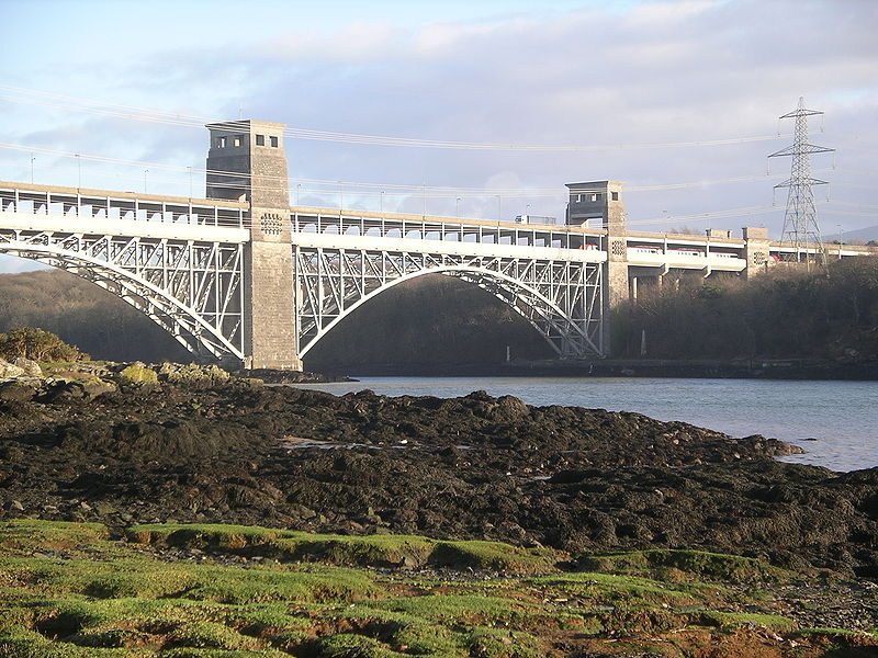 The iconic Britannia Bridge - taken from Wikipedia